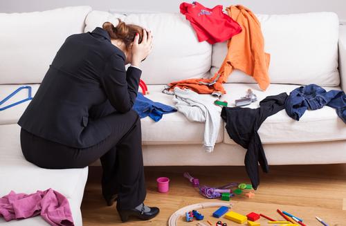 Depositphotos 40739621 s 2015 - Unhappy woman in mess